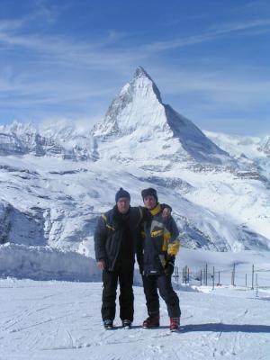 Matterhorn, pred njim pa oči in jaz