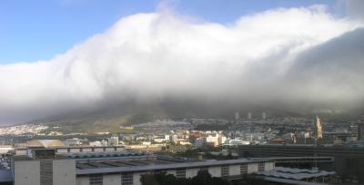 Table Mountain v oblakih