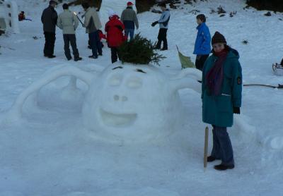 Jelka in snežna mrcina