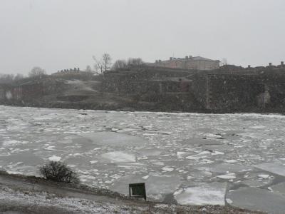 Zasnežena Suomenlinna