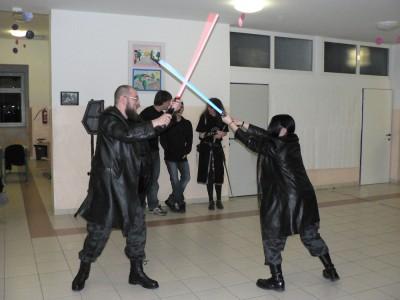 Dvoboj med Darthom Vaderjem in Lukom Skywalkerjem