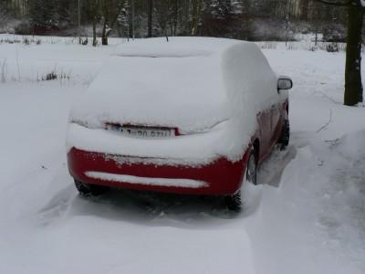 Moj avto - snežak