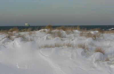 Plaža pozimi