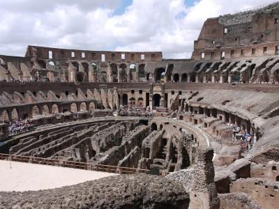 Bili smo tudi v Rimu, kjer je bil Kolosej dokaj kolosalen.