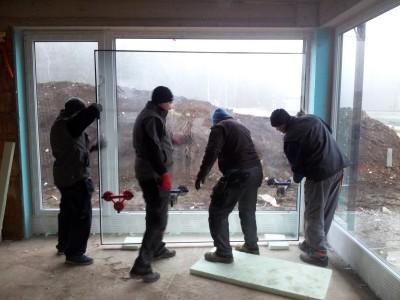 Vstavljanje stekla v okvir